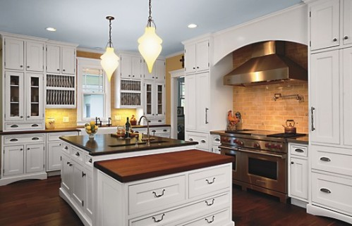 Kitchen with Crystal Cabinets