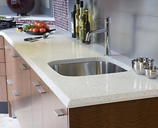 IceStone Countertop at Kitchen Views Showroom, Newton, MA