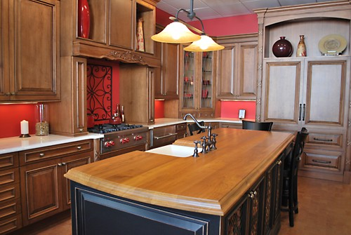 Traditional vignette with cabinetry containing MDF