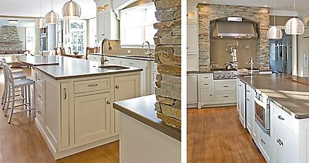Needham, MA fireplace to kitchen hood