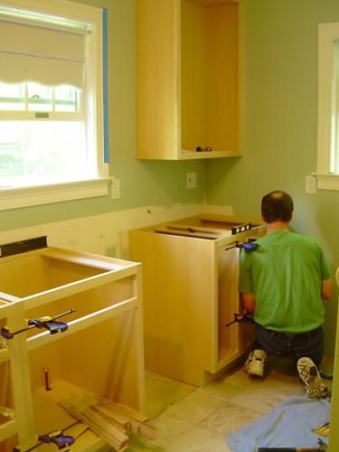 Pam's Kitchen Cabinets Being Installed