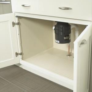 Merillat CoreGuard™ installed in a Merillat Classic Tolani Maple Chiffon cabinet