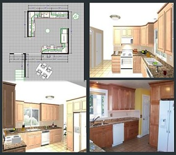 Visualizing your kitchen from floorplan to rendering to finished product