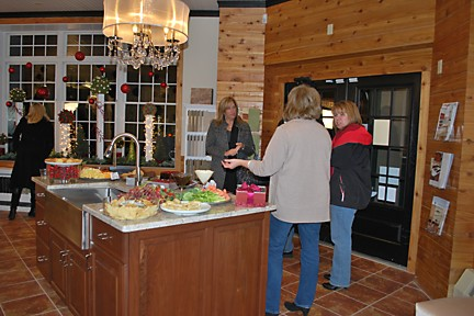 Greeting guests with appetizing treats