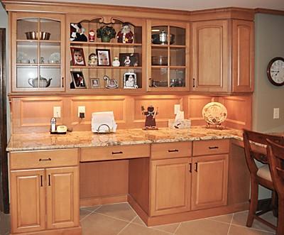 Task lighting under the upper cabinets