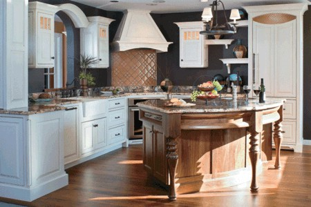 Crystal Cabinetry island