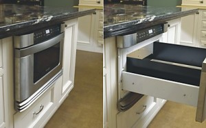 Under Counter Microwave Drawer at Kitchen Views Custom