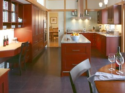 Easy Access Desk in the Kitchen