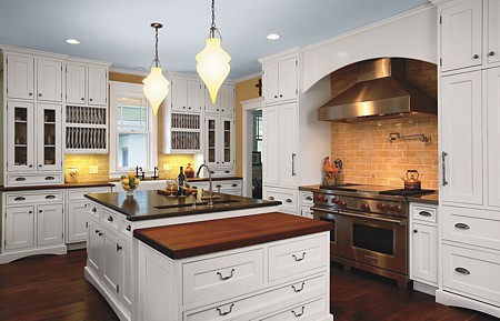 Traditional Kitchen Designed with Crystal Cabinets