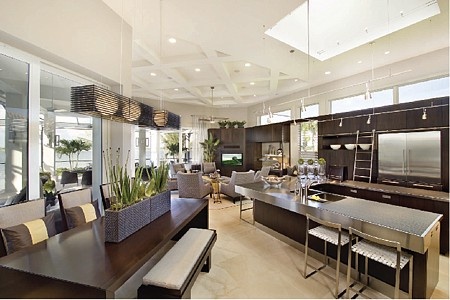 Multi-Functional Room Designed with Crystal Cabinetry