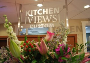 Welcome Floral Display at Kitchen Views Custom, Newton, MA