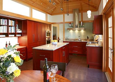 One of many kitchen islands featured in our Summer 2009 kitchen design magazine.