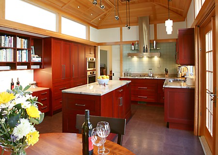 One of many kitchen islands featured in our Summer 2009 kitchen design magazine.