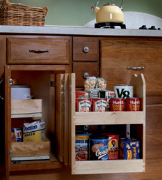 KraftMaid base cabinet blind corner with swing out