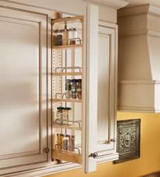 KraftMaid upper cabinet wall filler pullout