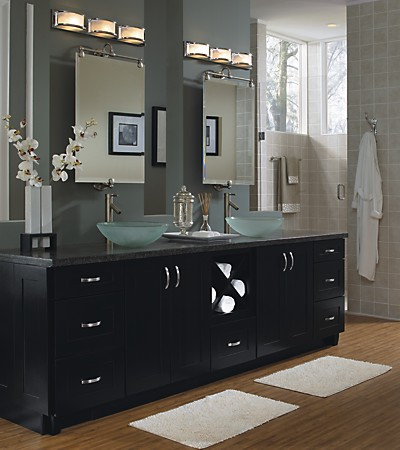 Schrock cabinetry master bath with double-sinks