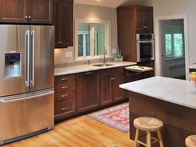 staining cabinets lighter. Black Bedroom Furniture Sets. Home Design Ideas