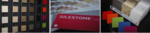 silestone countertop sample tiles