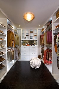 organized closet storage space