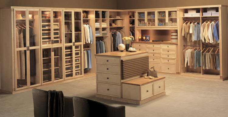 Beautiful Maple Wood Closet Designed By Closet Factory, MA
