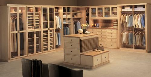 beautiful maple wood closet designed by Closet Factory, MA