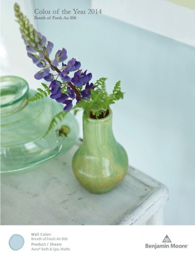 Benjamin Moore Color of the year 2014 Breath of Fresh Air
