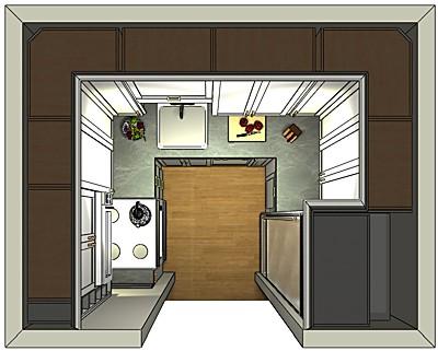 Tiny kitchen 2020 layout by Pam Kuliesis
