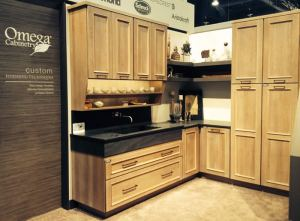 Omega display at 2014 KBIS of TURILLA cabinetry