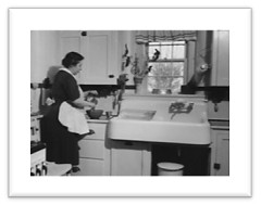Typical kitchen in the 1940s