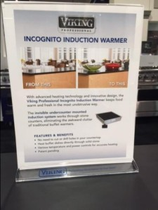 Viking Incognito Induction Warmer signage