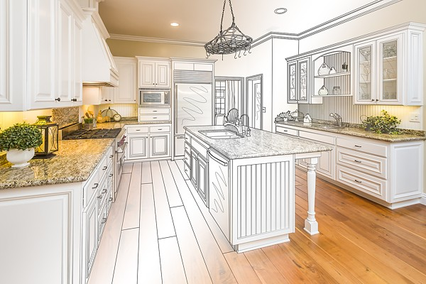 Planning Kitchen Design And Imagining Finished Room